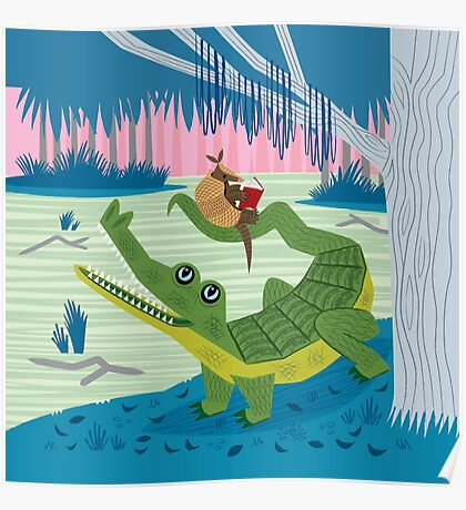 The Alligator and The Armadillo Poster
