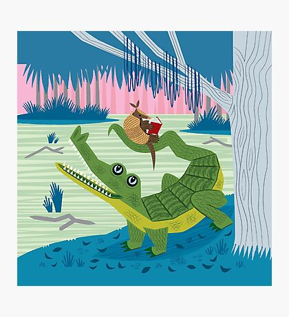 The Alligator and The Armadillo Photographic Print