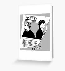 221B SHERLOCK Greeting Card