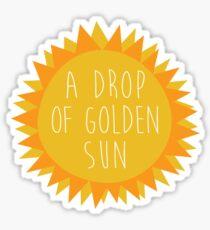 sound of music - drop of sun Sticker