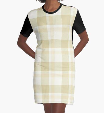 Beige Tartan by Julie Everhart Graphic T-Shirt Dress
