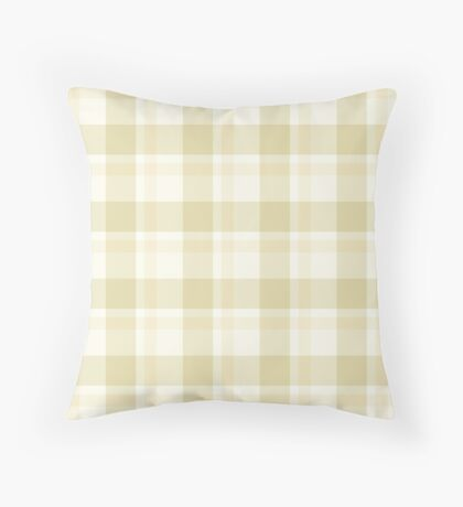 Beige Tartan by Julie Everhart Throw Pillow