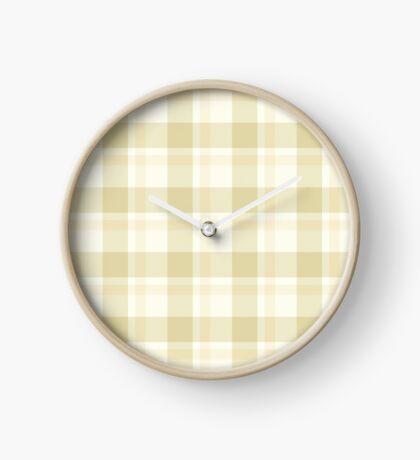 Beige Tartan by Julie Everhart Clock