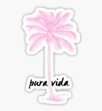 pink palmtree Sticker
