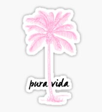pink palmtree Sticker