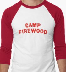 80's Summer Camp Firewood Men's Baseball ¾ T-Shirt