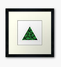 green flowers in triangle Framed Print