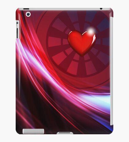 Ladies Heart Design Darts Shirt iPad Case/Skin