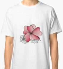 pink flowers in triangle Classic T-Shirt