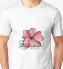 pink flowers in triangle T-Shirt