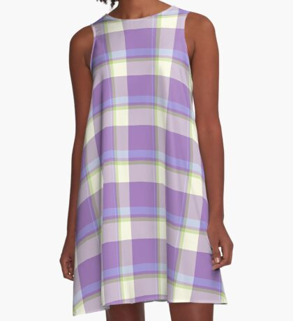 Lavender Tartan Design by Julie Everhart A-Line Dress