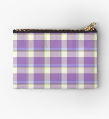 Lavender Tartan Design by Julie Everhart Zipper Pouch