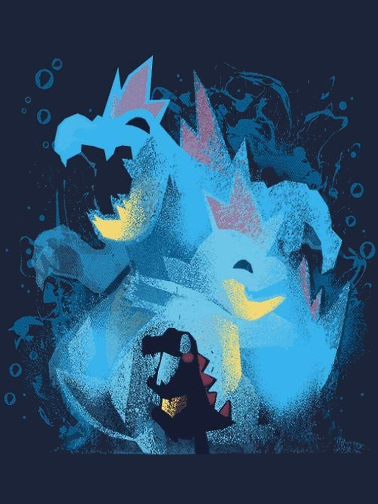 totodile, croconaw and feraligart evolutions cool design by Biocool