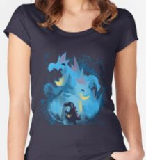 totodile, croconaw and feraligart evolutions cool design Women's Fitted Scoop T-Shirt