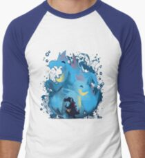 totodile, croconaw and feraligart evolutions cool design Men's Baseball ¾ T-Shirt