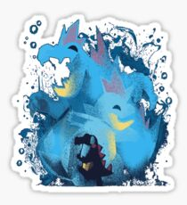 totodile, croconaw and feraligart evolutions cool design Sticker