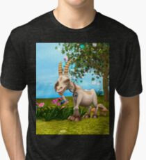 Happy Goat Tri-blend T-Shirt