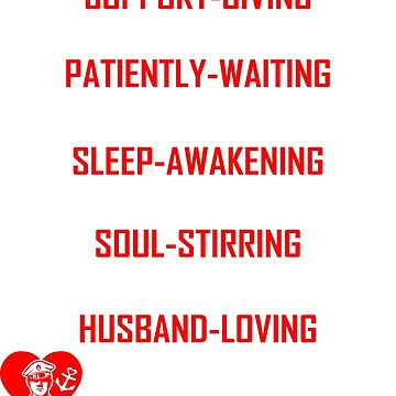 Im Support Giving Husband Loving Sailors Wife Tshirt by 06051984