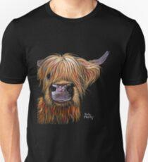SCOTTISH HAIRY HIGHLAND COW 'HENRY' By Shirley MacArthur Unisex T-Shirt