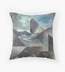 Mountains & Glacier Cuts Throw Pillow
