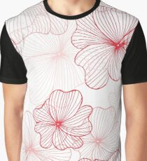 pink flowers pattern Graphic T-Shirt