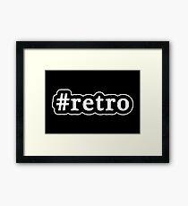Retro - Hashtag - Black & White Framed Print