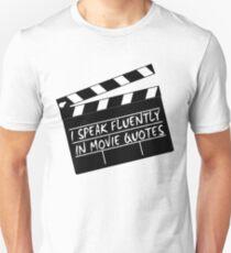 Camiseta ajustada Hablo con fluidez en las citas de películas