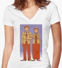 bioshock brothers Women's Fitted V-Neck T-Shirt