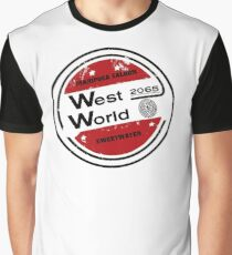 Westworld Retro Logo Round Graphic T-Shirt