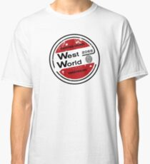 Westworld Retro Logo Round Classic T-Shirt