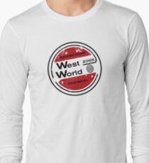 Westworld Retro Logo Round Long Sleeve T-Shirt
