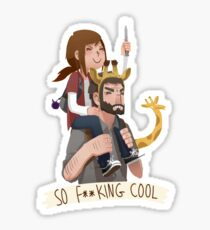 So f**king cool ellie and joel Sticker
