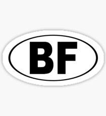 Beaver Falls Pennsylvania Oval BF Sticker