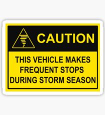 CAUTION - Chase Vehicle Sticker (Tornado) Sticker