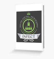 Magic the Gathering - Infect Life V2 Greeting Card