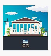 Travel to Greece skyline Photographic Print