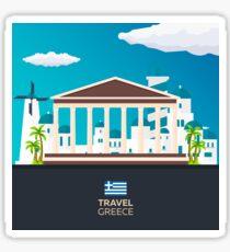 Travel to Greece skyline Sticker