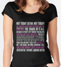Rupaul's Drag Race Quotes (black background) Women's Fitted Scoop T-Shirt