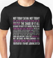 Camiseta ajustada Rupaul's Drag Race Quotes (fondo negro)