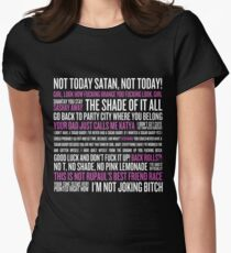 Rupaul's Drag Race Quotes (black background) Women's Fitted T-Shirt