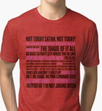 Rupaul's Drag Race Quotes (white background) Tri-blend T-Shirt
