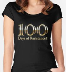100 Days of Resistance Michael Moore March T Shirts Women's Fitted Scoop T-Shirt