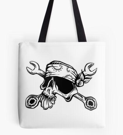 El Mecanico Skull Tote Bag