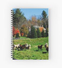 Sheep Farm in the Vermont Countryside Spiral Notebook