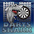 Darts Shirt For The Darts Shark by mydartshirts