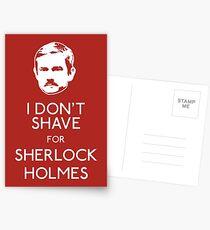 I Don't Shave For Sherlock Holmes Postcards