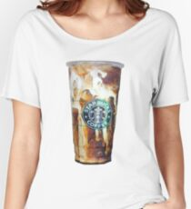 Iced coffee photo print Women's Relaxed Fit T-Shirt