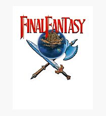 Final Fantasy NES Photographic Print