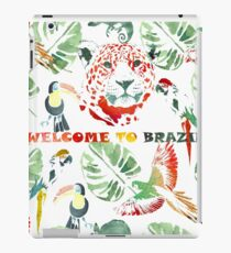 Watercolor  pattern.Welcome to Brazil. iPad Case/Skin