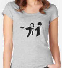 Camiseta entallada de cuello ancho Pulp Fiction